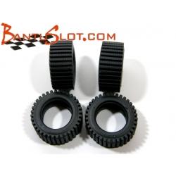 Neumáticos Raid 22 x 10 mm rayado fino Mitoos (4)