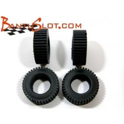 Neumáticos Raid 25 x 9 mm rayado fino Mitoos (4)