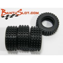 Neumáticos Raid 25 x 10 mm Squared Mitoos (4)