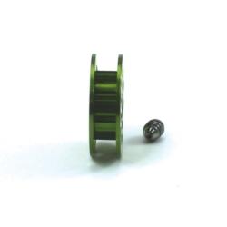 Polea dentada 11z 1,8 mm eje 2.38 mm verde Scaleauto
