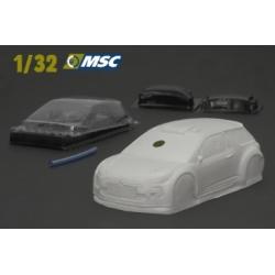 Carrocería Citroen DS3 WRC fibra MSC