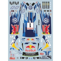 Calca 1/24 Ford Fiesta WRC Kubica Lotos Montecarlo 2015 Colorado Decals