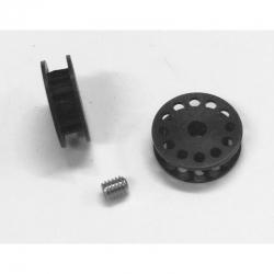 Polea dentada 13z correa para eje 2.38 mm. azul PSP