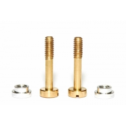Kit tornillos suspensión + tuercas aluminio Sloting Plus (2+2)