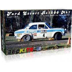 Ford Escort RS1600 MKI Winner RAC Rally 1973 Makinen 1/24 Belkits