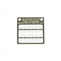 Separador 0,10 mm standard para eje 2.38 mm Sloting Plus (20)
