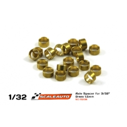 Separador 1 mm para eje 2.38 mm bronce Scaleauto (20)