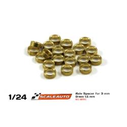 Separadores bronce para eje de 3mm. de 3 mm. grosor Scaleauto (20)