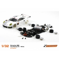 Porsche 991 Cup Racing kit White Scaleauto