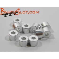 Separadores eje 3/32 de 4 mm aluminio NSR (10)