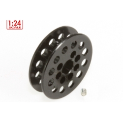 Polea dentada 12z correa 1.8mm para eje 3mm. negra Scaleauto