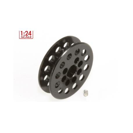 Polea dentada 12z correa 1.8mm para eje 3mm. negra MSC