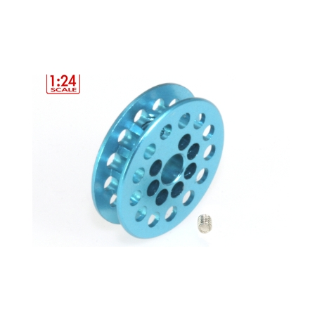 Polea dentada 13z correa 1.8mm para eje 3mm. azul cielo MSC