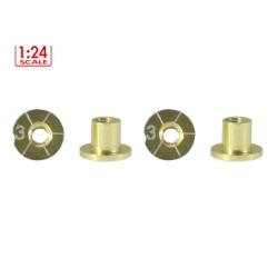 Casquillos H 3 mm. Aluminio Non concentric Scaleauto (4)
