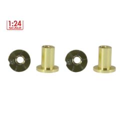 Casquillos H 5 mm. Aluminio Non concentric Scaleauto (4)