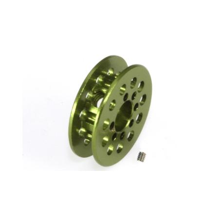 Polea dentada 11z correa 1.8mm para eje 3mm. verde Scaleauto