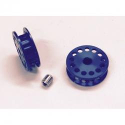 Polea dentada 13z correa para eje 3mm. azul PSP