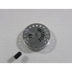 Polea dentada 18z MXL aluminio Mitoos