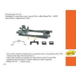 Soporte motor H.R.S. motor Boxer/Flat línea Offset 0.5 mm duro Slot.it