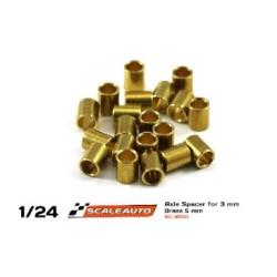 Separadores bronce para eje de 3mm. de 5 mm. grosor Scaleauto (20)