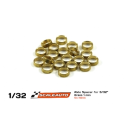 Separador 0,50 mm para eje 2.38 mm bronce Scaleauto (20)
