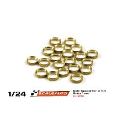 Separadores bronce para eje de 3 mm. de 1 mm. grosor Scaleauto (20)