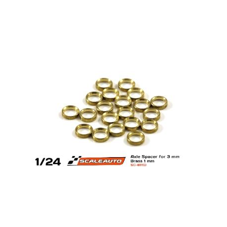 Separadores bronce para eje de 3mm. de 1.5 mm. grosor Scaleauto (20)