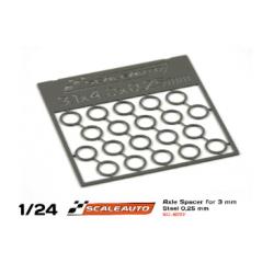 Separadores para eje de 3 mm. de 0,25 mm. grosor Scaleauto (20)