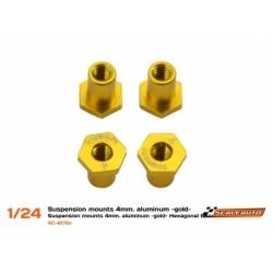 Casquillos sujección H 4mm Aluminio Dorado Scaleauto (4)
