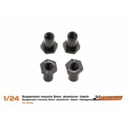 Casquillos sujeción H 5mm Aluminio Negro cabeza hexagonalScaleauto (4)