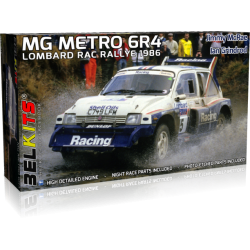 Kit 1/24 MG Metro 6R4 RAC Rally Lombard 1986 Belkits