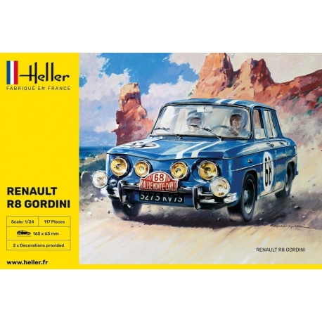 Kit 1/24 Renault 8 Gordini Montecarlo / Tour de Corse 67 Heller