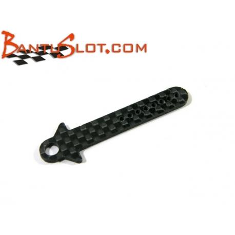 Soporte guía basculante carbono 1,5 mm. APO Racing