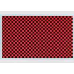 Calcas Damier Rojo / Negro DMC